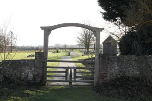 View through gate into the cemetery